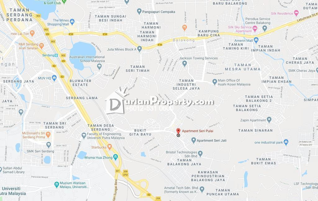 Flat For Auction at Pangsapuri Seri Pulai, Taman Balakong Jaya