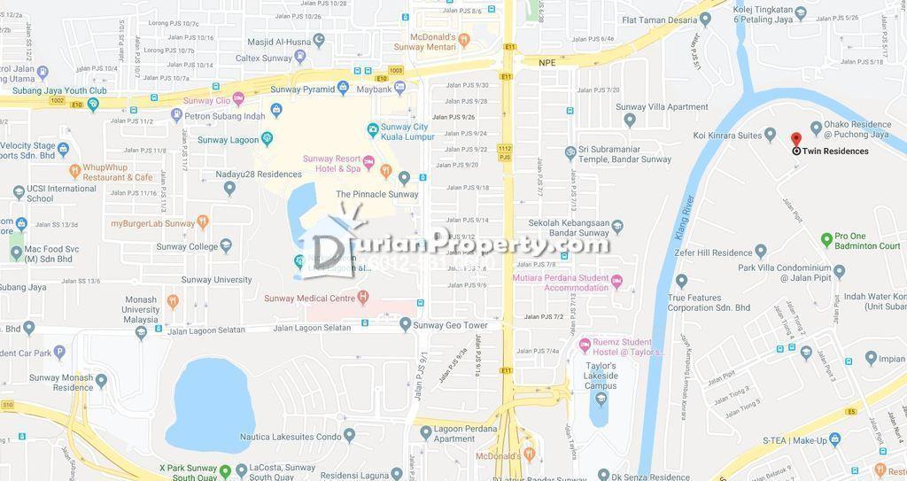 Apartment For Auction at Twinz Residences, Bandar Puchong Jaya