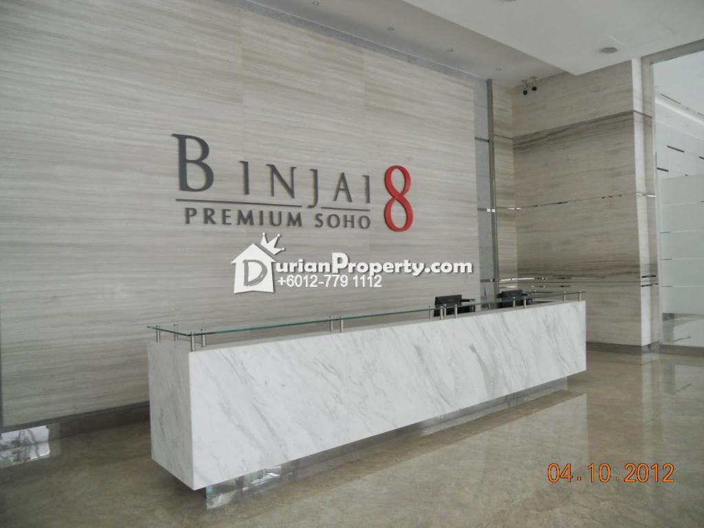 Condo For Rent at Binjai 8, KLCC