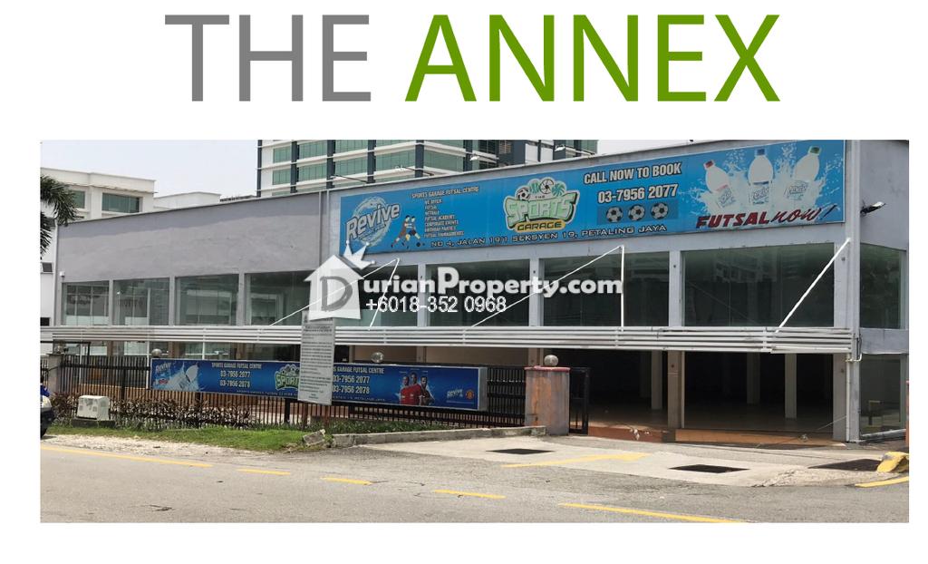 Retail Space For Rent at Wisma Annex, Petaling Jaya