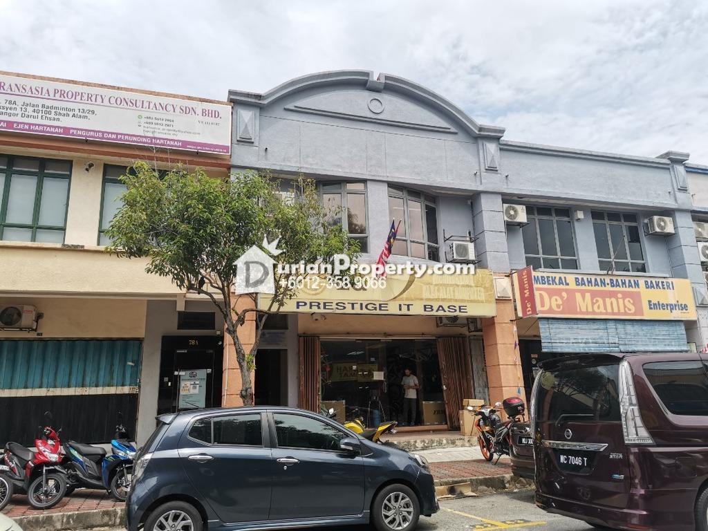 Shop For Rent at Tadisma Business Park, Shah Alam