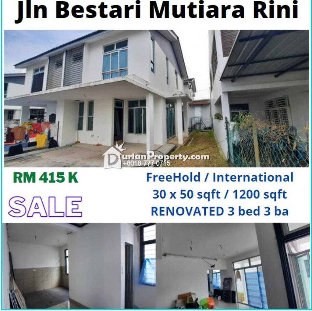 Semi D For Sale at Taman Mutiara Rini, Skudai
