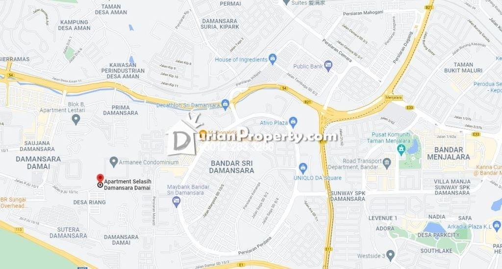 Apartment For Auction at Apartmen Selasih, Damansara Damai