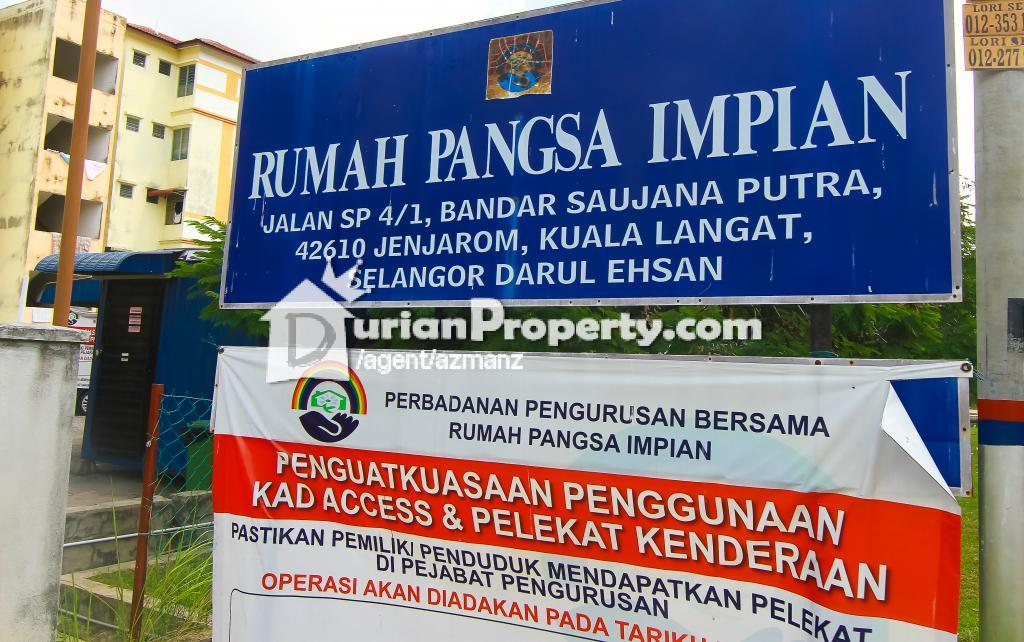 Flat For Sale at Bandar Saujana Putra, Jenjarom for RM 130,000 by