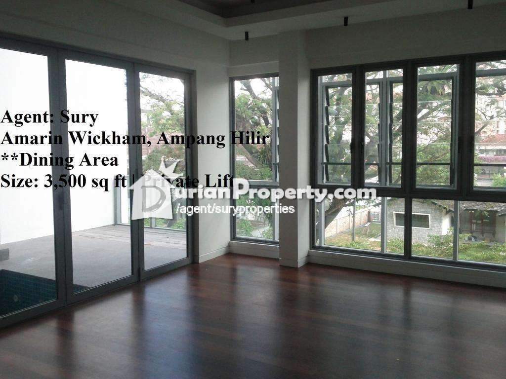 Condo duplex for rent at amarin wickham ampang hilir for for Marin condos for rent