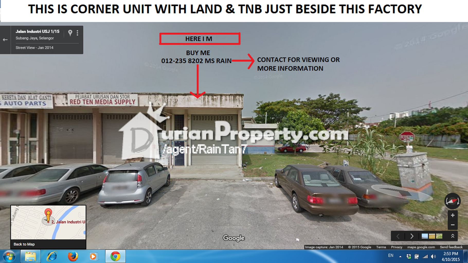 Terrace Factory For Sale At USJ  USJ For RM  By Rain Tan - Usj 1 location map