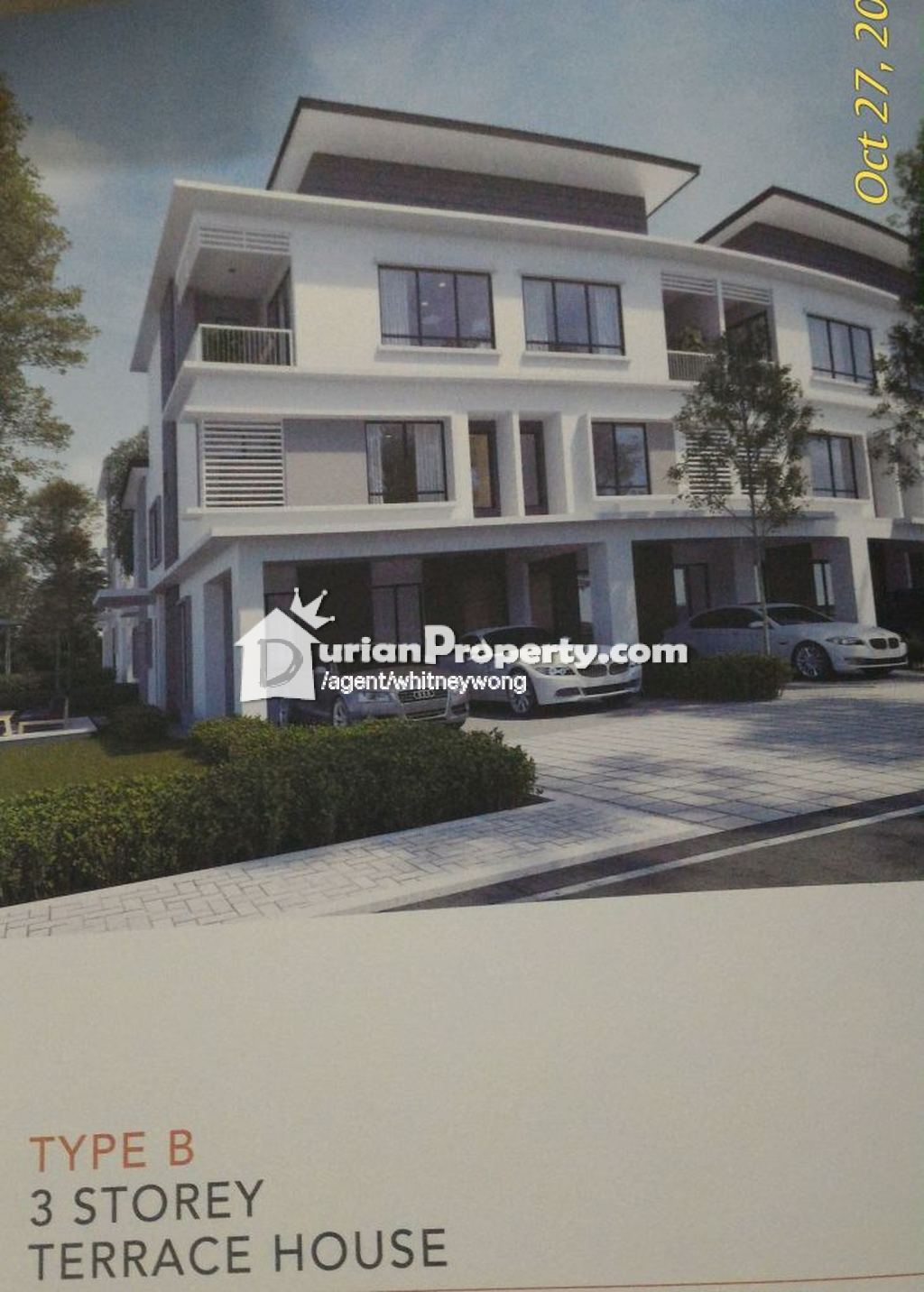 terrace house for sale at setia city mall setia alam for