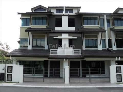 Terrace house for sale at southbay residence batu maung for 3 storey terrace house design