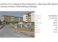 Property for Auction at Pangsapuri Raya