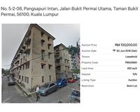 Property for Auction at Pangsapuri Intan