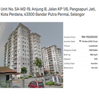 Property for Auction at Pangsapuri Jati