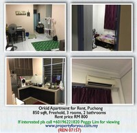 Property for Rent at Pangsapuri Orchid