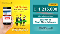 Detached Warehouse For Auction at Section 11, Shah Alam