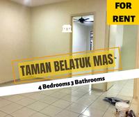 Terrace House For Rent at Taman Belatuk Mas, Durian Tunggal