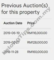 Terrace House For Auction at Lahad Datu, Sabah